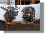 """ Elk vs Bear"" Motorhaube Campmobil Freehand Technik"